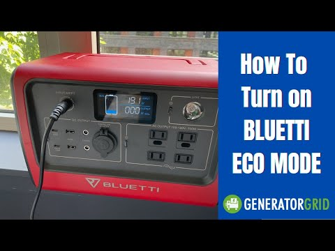 How To Turn on Bluetti ECO mode on the EB70