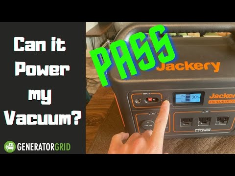 Can the Jackery Explorer 1000 Power my Vacuum Cleaner?