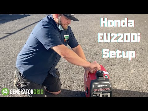 Honda EU2200i Setup. How to Start & Stop Your Generator The First Time