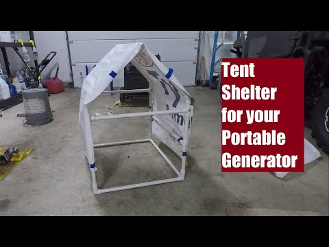 Building a Shelter for a portable generator