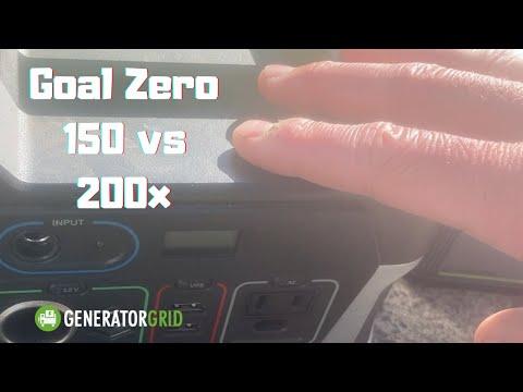 Goal Zero Yeti 150 vs 200x. I really hate one.