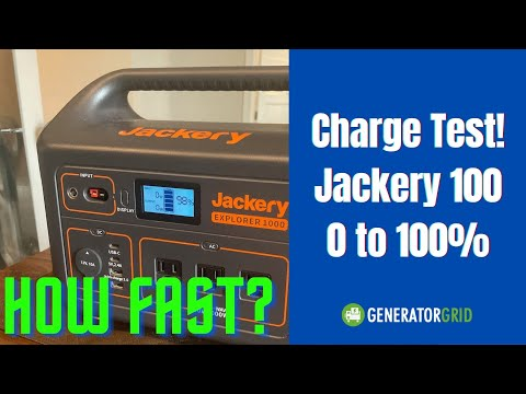 Charging the Jackery 1000 Test! AC Test from 0 to 100 percent charge. How long does it take?