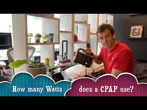 How many Watts does a CPAP use on Battery?