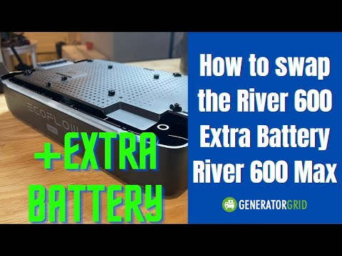 How to change the River 600 Extra Battery on a River 600 Max