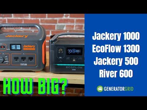 Jackery 1000 Size Vs EcoFlow Delta1300 River600 & Jackery Exlorer 500