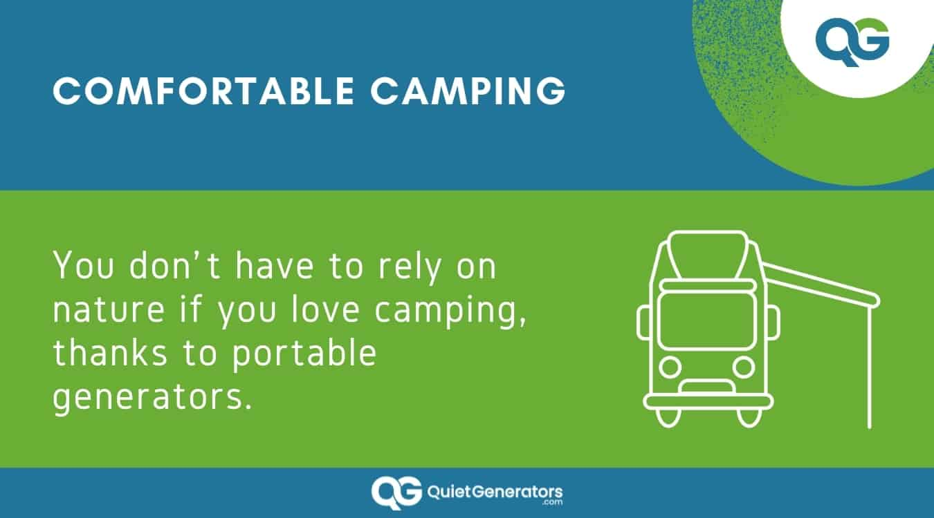 Infographic about how to use generators when camping