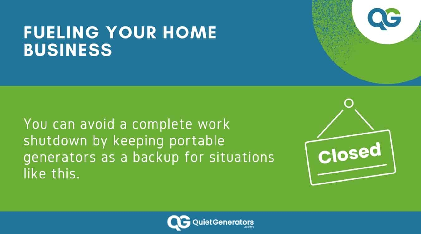 Infographic about how generators can keep your home business running