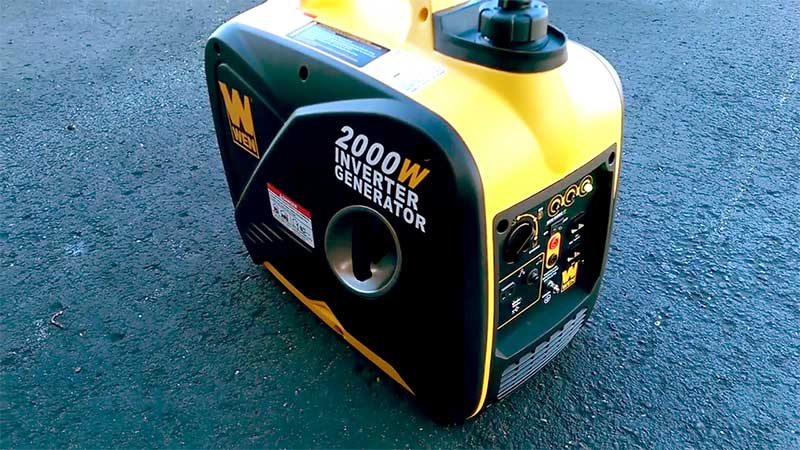 WEN 56200I portable generator on asphalt