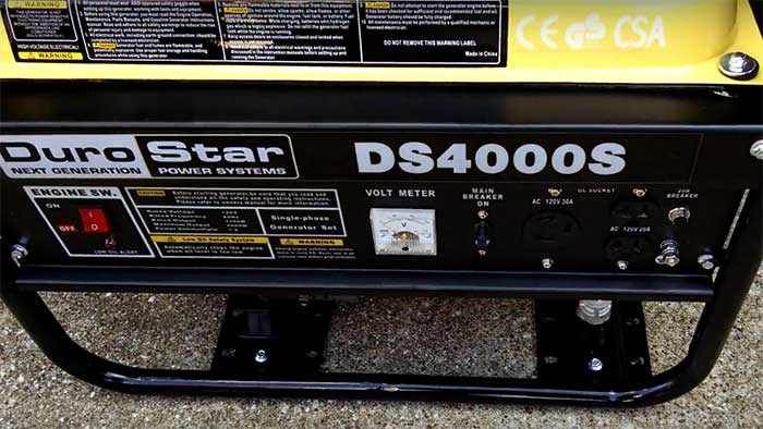 DS4000S Generator front panel