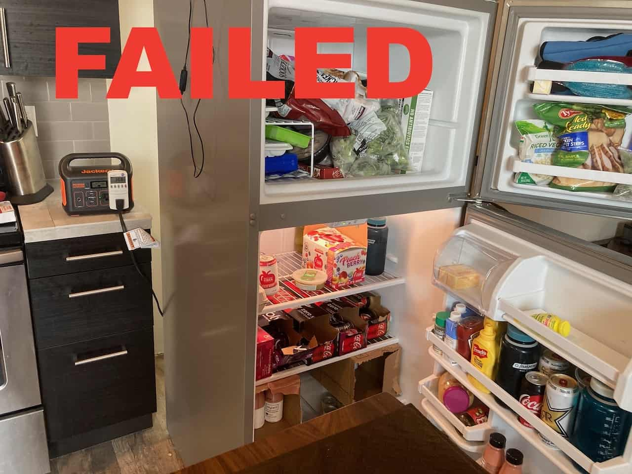 Jackery 300 Failed to Power a normal home refrigerator freezer combo