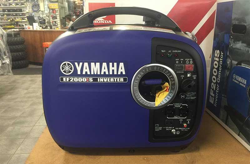 yamaha ef2000ISV2 inverter next to the retail box