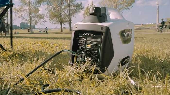 ATIMA AY2000I gas generator on grass