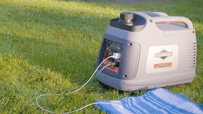 Briggs & Stratton portable generator on grass