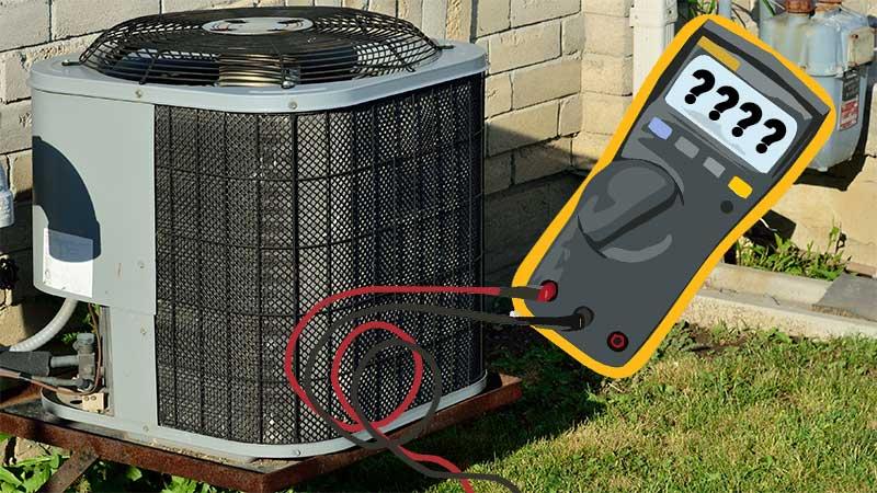 central air conditionner next to a watt meter