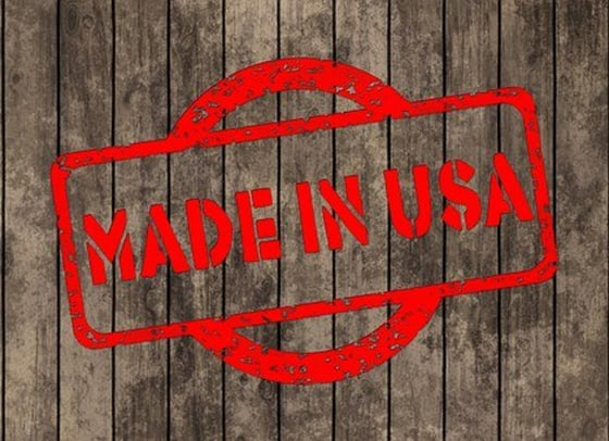 """red stamp """"made in usa"""" stamped on wood"""
