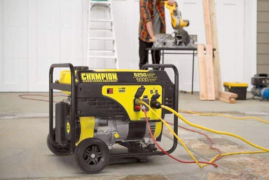 champion generator plugged in