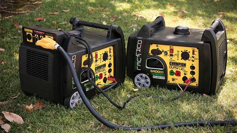 Champion dual fuel generators in parrallel
