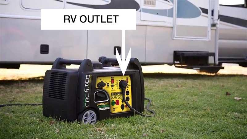 RV Outlet on a Champion dual fuel generator