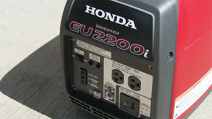 Honda Generator control dashboard