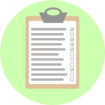 cartoon of a checklist
