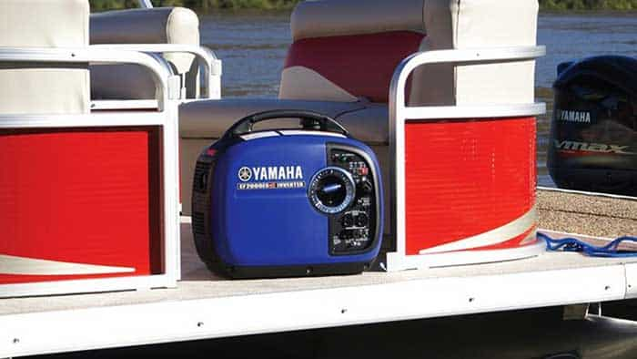 Yamaha electrical generator on a pontoon boat