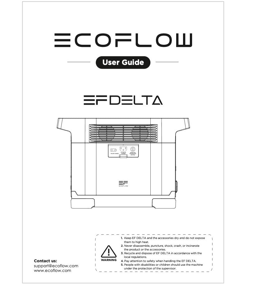 EcoFlow Delta EFDelta 1300 User Manual