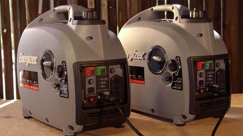 Two energizer ezp2000P generators plugged in parallel
