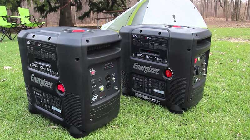 Two energizer portable generators next to each other