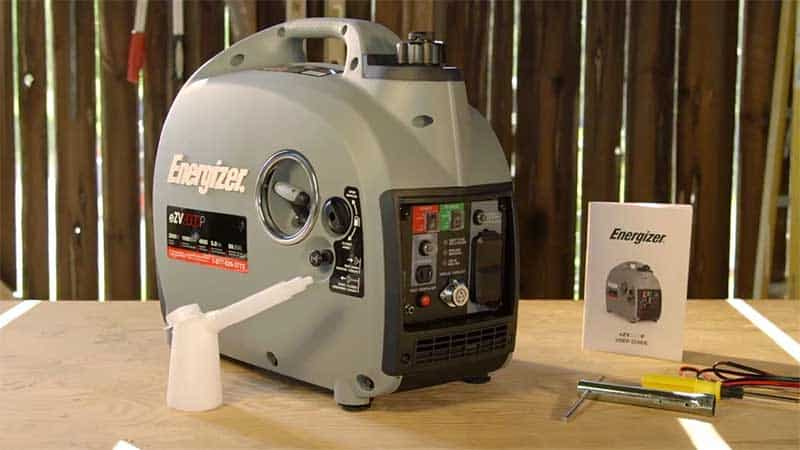 EZV2000P portable generator on a wooden table