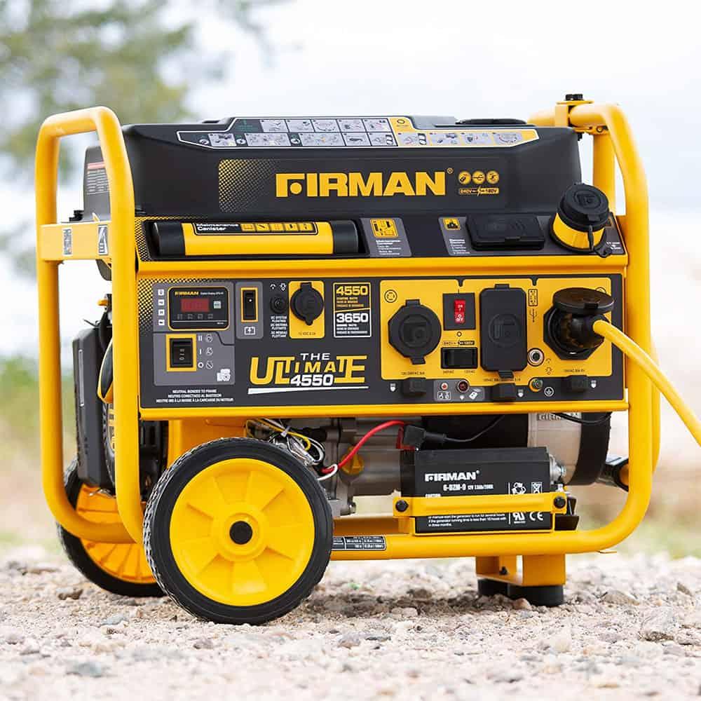 firman p03612 generator on a beach