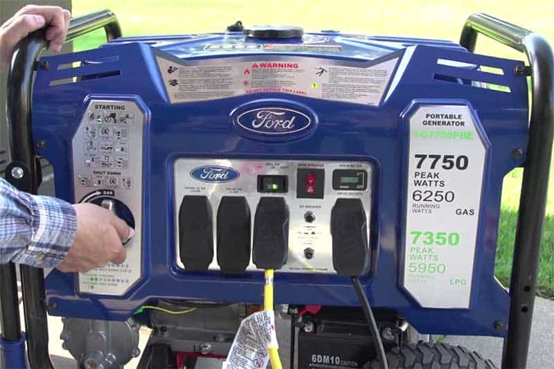 Switching from gaz to lpg fuel on a ford generator