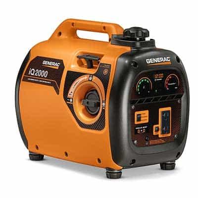 Generac IQ2000 portable generator in orange color