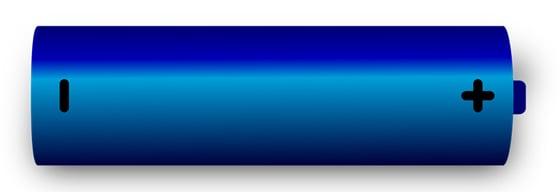 cartoon of a blue battery