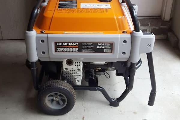 generac generator in a garage