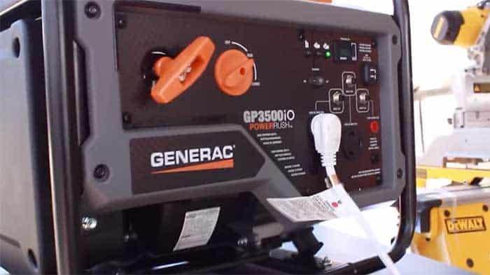 GP3500IO generator plugged into ac