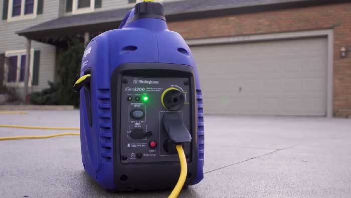 igen 2200 generator from westinghouse powered up