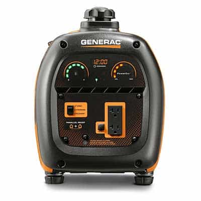 Front displays and dials on the generac IQ2000 inverter