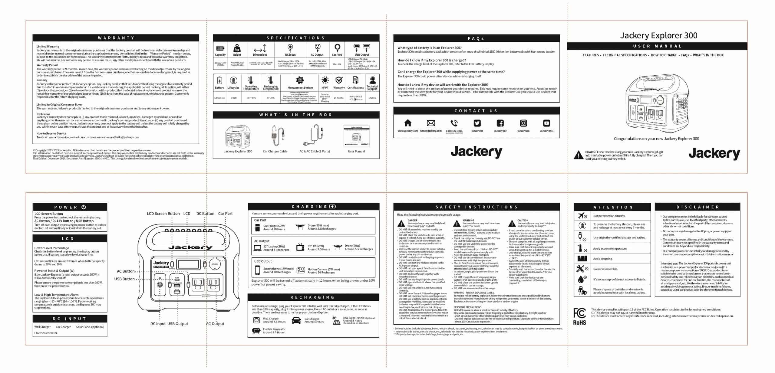 jackery 300 user manual