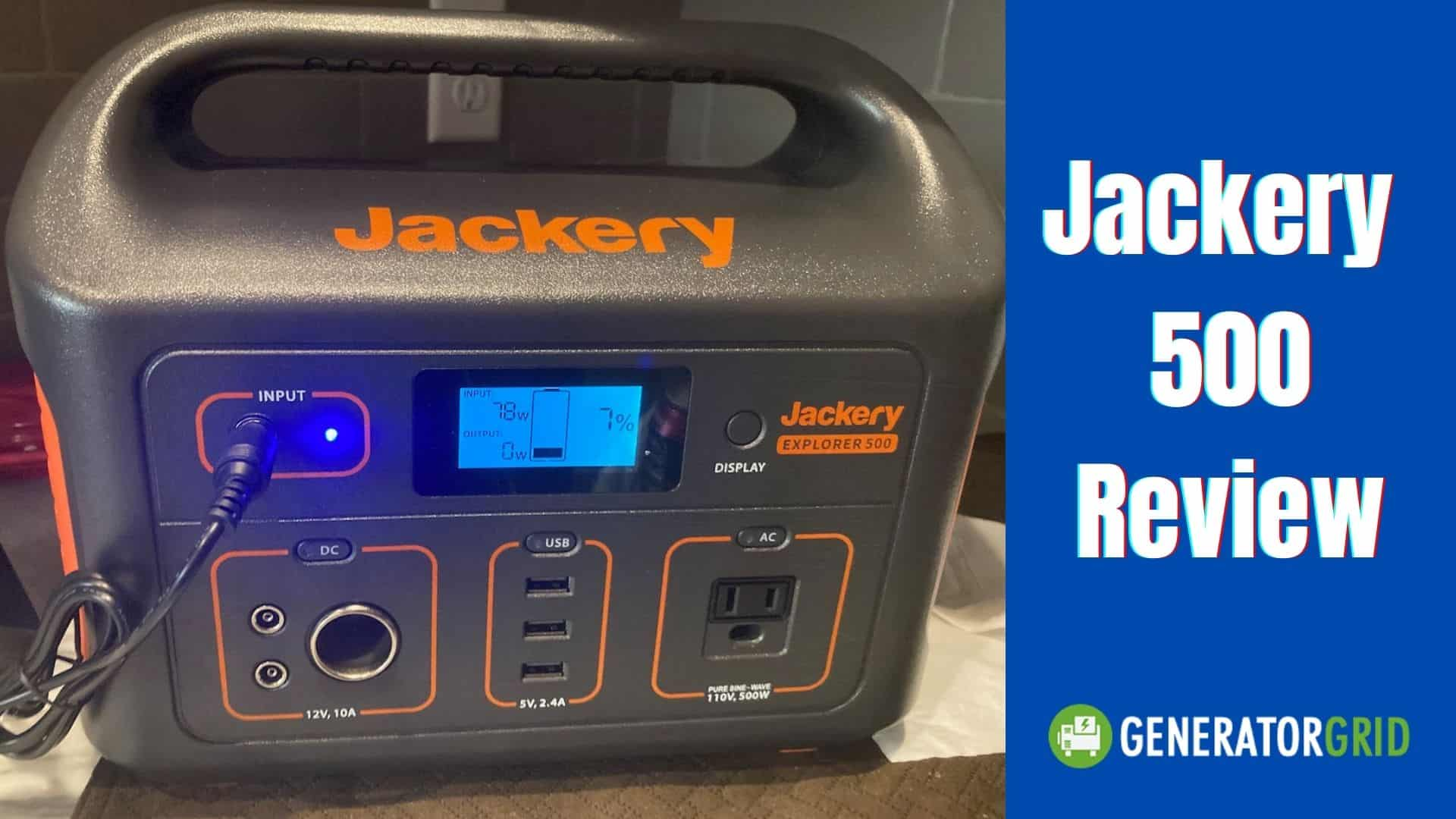 Jackery 500 Review