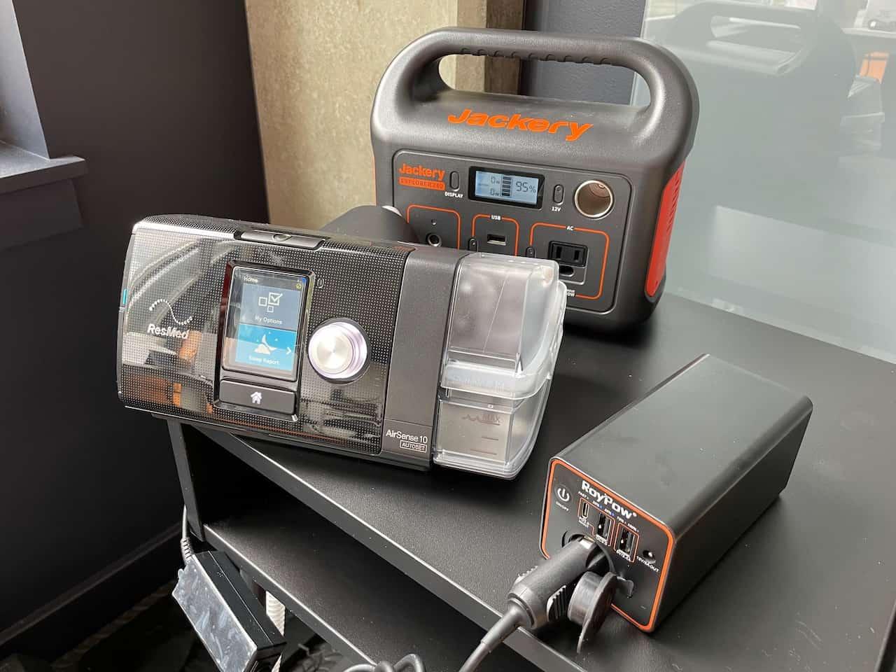 my resmed airsense 10 battery backups