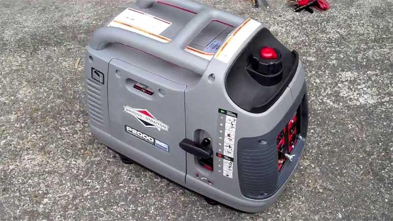 P2000 generator on asphalt