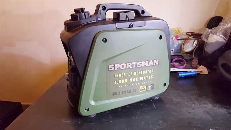 Sportsman 1000W inverter on a table