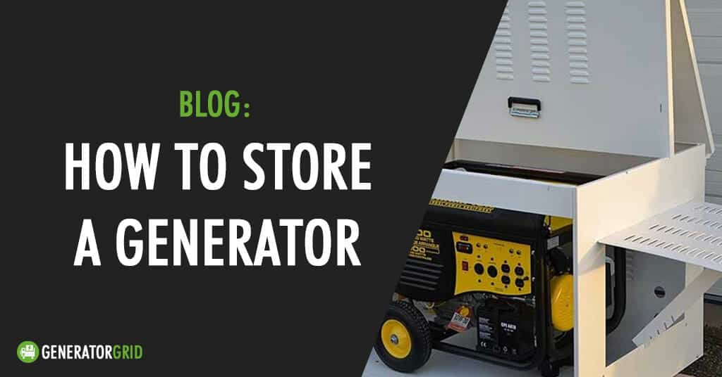 how to store a generator