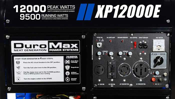 xp12000e generator outlet panel