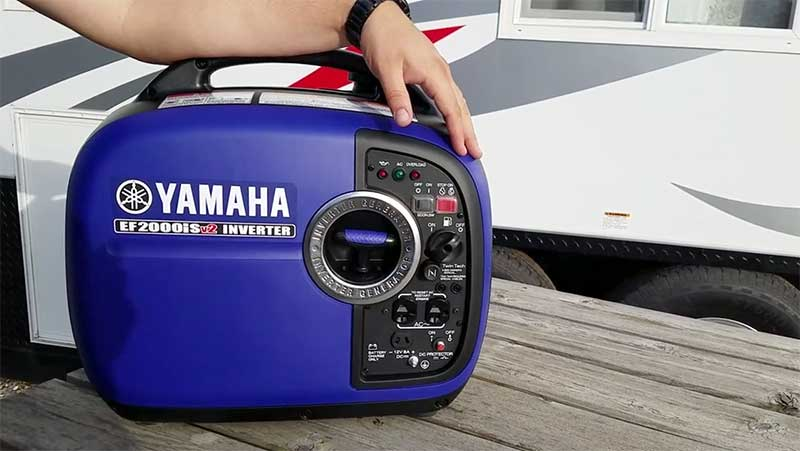 Yamaha Portable generator on a table